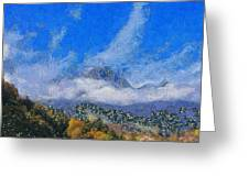 High Winds And Clouds Greeting Card