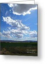 High Winds Chase The Rain Clouds Away Greeting Card