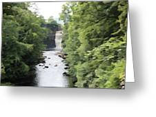 Highforce Waterfall Greeting Card
