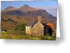 Highland Cottage At Elphin Greeting Card