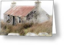 Highland Cottage In The Mist Greeting Card