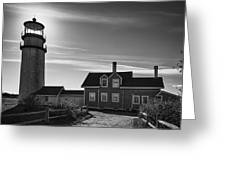 Highland Lighthouse Bw Greeting Card