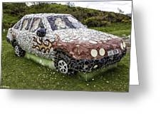 Highland Stoneware Car Greeting Card
