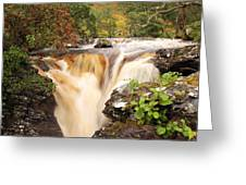 Highland Waterfall Dundonnell River Greeting Card