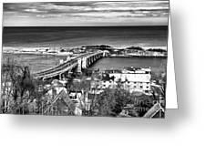 Highlands Bridge Greeting Card by John Rizzuto