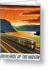 Highlands Of Hudson, Railway, Train Greeting Card