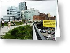 Highline Parking Greeting Card