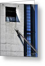 Highrise Fire Escape Greeting Card