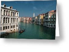 Hight Tide In Venice Greeting Card