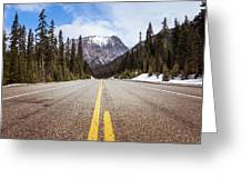 Highway 20 On Rainy Pass In North Cascades National Park Greeting Card