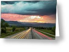 Highway 36 To Beautiful Boulder Colorado Greeting Card