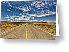 Highway 64 To Taos Greeting Card