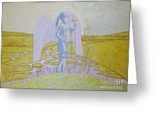 Highway Angel Landscape Bright Greeting Card