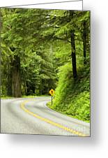 Highway Curve Greeting Card