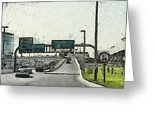 Highway In Dubai Greeting Card