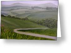 Highway Into The Hills Greeting Card