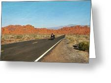 Highway Journey Greeting Card by JAMART Photography