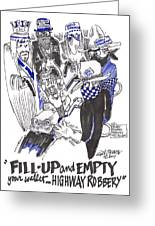 Highway Robbery American Style Greeting Card