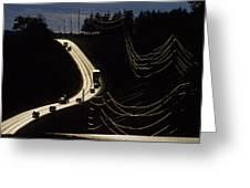 Highway Sunset Greeting Card