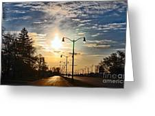 Highway To The Sun Greeting Card