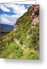 Hike Up Mt Iron Wanaka New Zealand Greeting Card