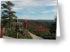 Hiker In Acadia National Park Greeting Card