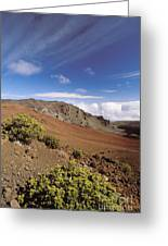 Hikers Inside Haleakala  Greeting Card