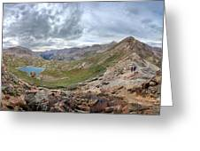 Hikers On Columbine Pass - Weminuche Wilderness - Colorado Greeting Card