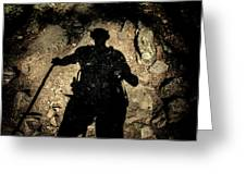 Hikers Shadow Greeting Card