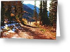 Hiking Couple In The Wasatch Greeting Card