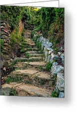 Hiking In Cinque Terre Italy Greeting Card