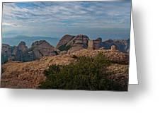 Hiking In Montserrat Spain Greeting Card