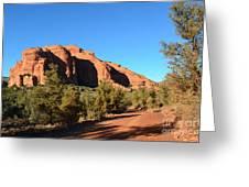 Hiking In Red Rocks In Arizona Greeting Card