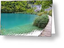 Hiking Kaluderovac Lake Greeting Card