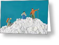 Hiking On Flour Snow Mountain Greeting Card by Paul Ge