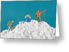 Hiking On Flour Snow Mountain Greeting Card