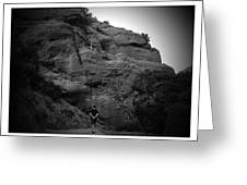 Hiking The Trails In Black And White Greeting Card