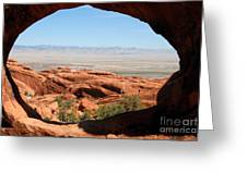 Hiking Through Arches Greeting Card