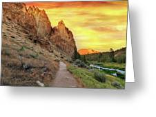 Hiking Trail At Smith Rock State Park Greeting Card