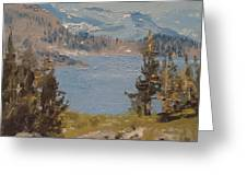 Hiking Yosemite Greeting Card