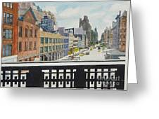Hiline View Looking East Greeting Card