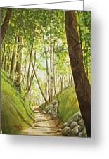 Hiling Path Greeting Card by Charles Hetenyi
