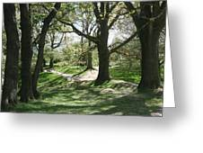 Hill 60 Cratered Landscape Greeting Card