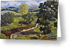 Hill Country Pasture Greeting Card