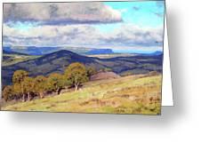 Hill Shadows Kanimbla  Greeting Card