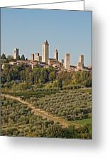 Hill Town Of San Gimignano Greeting Card