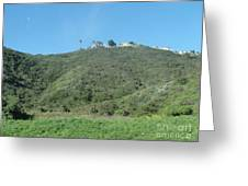 Hill With A House Greeting Card