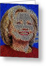 Hillary Presidents Mosaic Greeting Card