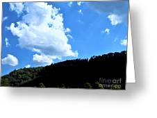 Hills And Sky Greeting Card