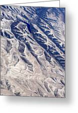 Hills And Valleys Aerial Greeting Card